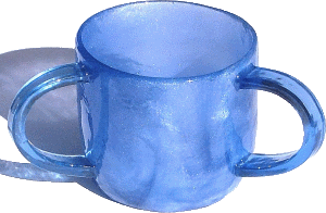 Blue Solid Ronit Iridescent Acrylic Washing Cup