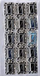 Diagonal Split Rectangle Sterling Silver Atarah - D-60