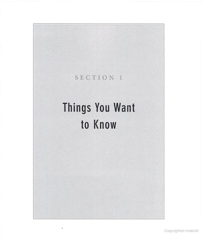 Things You Want To Know