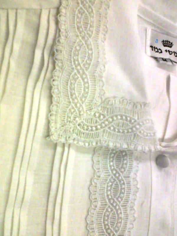 French Lace Kittel #13170 --- Judaica Savings